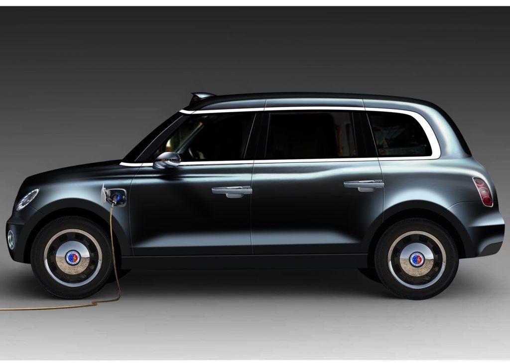 London Taxi Company TX5 elektromos taxi (plug-in hibrid)