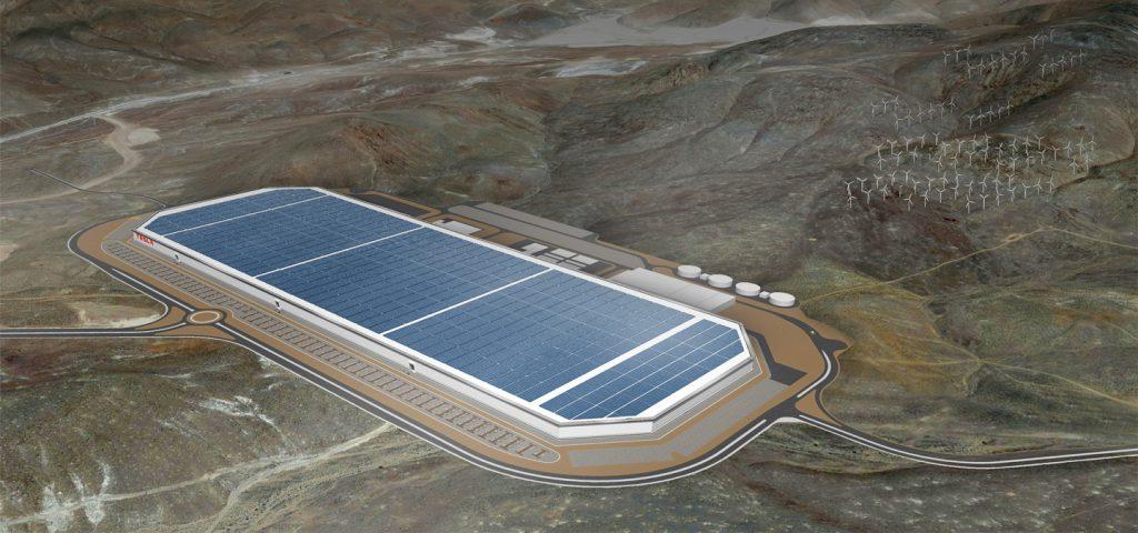 A Tesla Gigafactory eredeti látványterve