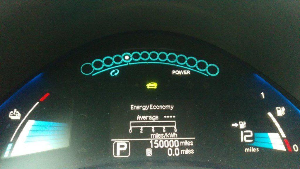 Nissan LEAF 150 ezer mérfölddel vagyis 240 ezer km-rel (foto: Steve Marsh)