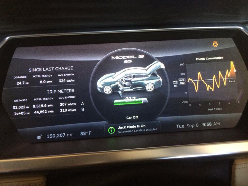 Tesla Model S 240 ezer mérföld után