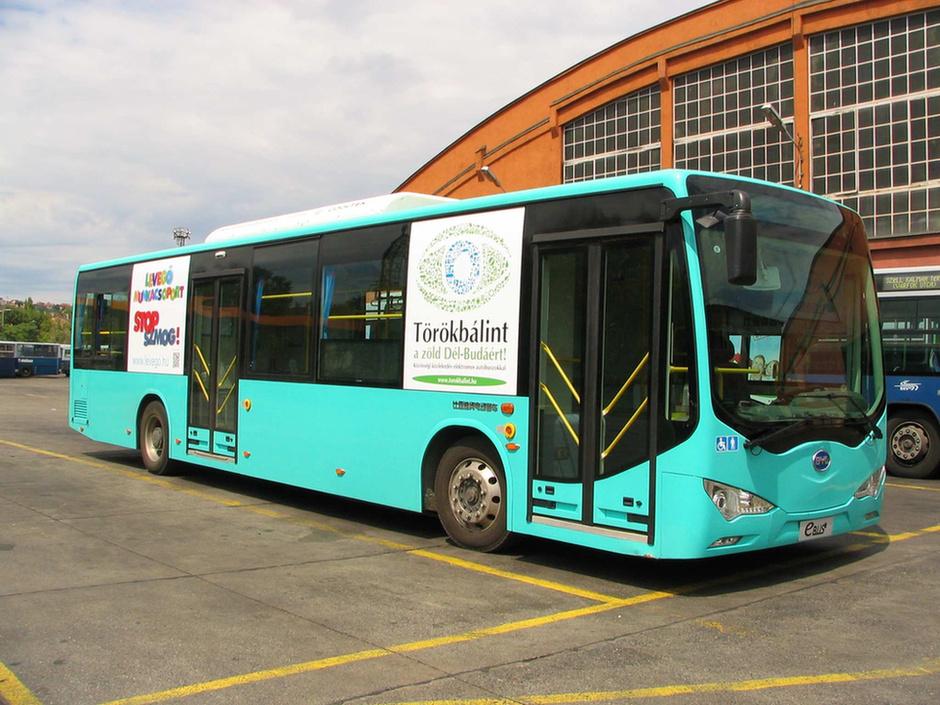 BYD elektromos busz Budapesten (fotó: BKV)