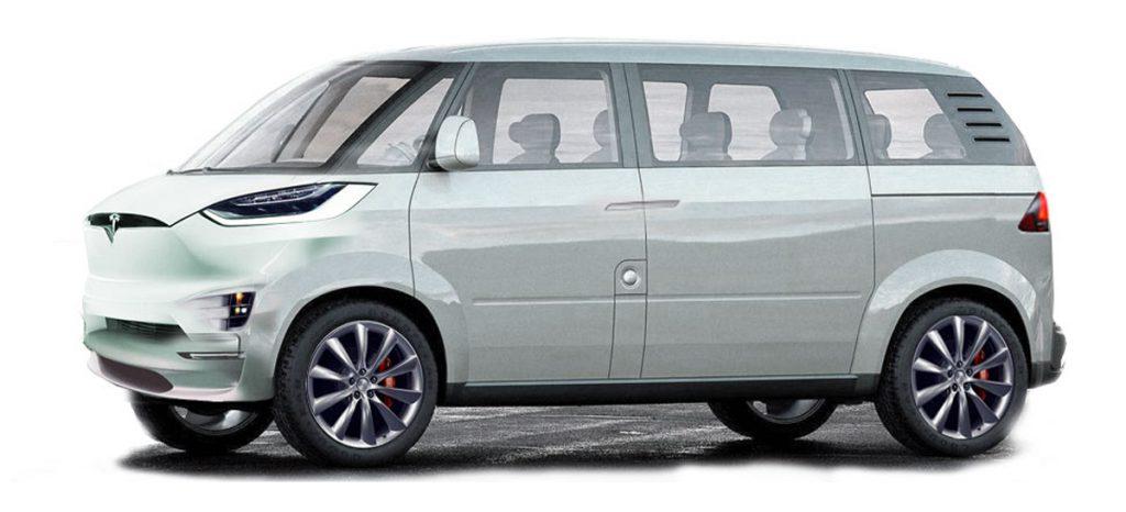 Tesla egyterű a klasszikus Volkswagen formákkal ötvözve (Render: Jason Torchinsky)