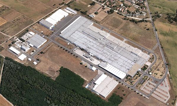 A Samsung SDI gyára Gödön a legfrissebb Google Earth felvételen (forrás: Google)