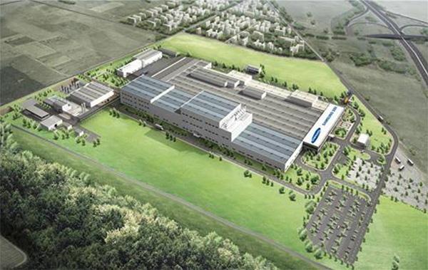 A Samsung SDI gödi gyárának terve (forrás: Samsung)