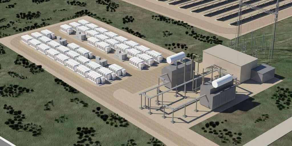 Tesla Powerpack energiatároló telep terve (forrás: Tesla Energy)