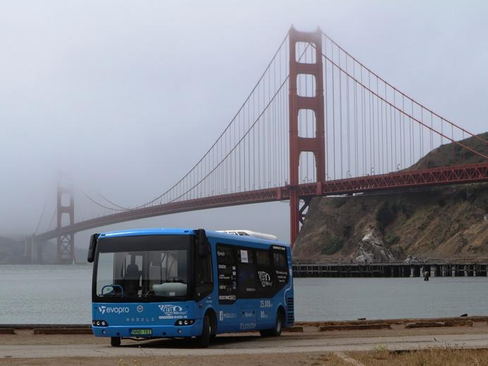 80 eDays, elektromos Modulo a Golden Gate lábánál