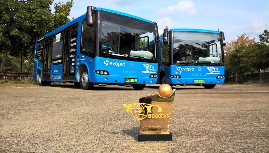 80 eDays trófea és a teljesítő buszok