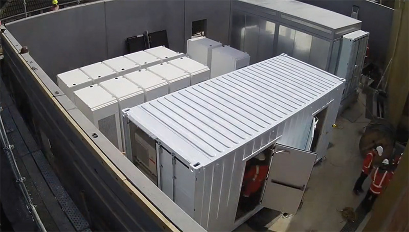 Tesla Powerpack állomás Glen Innesben (Új Zéland) (forrás: Vector)