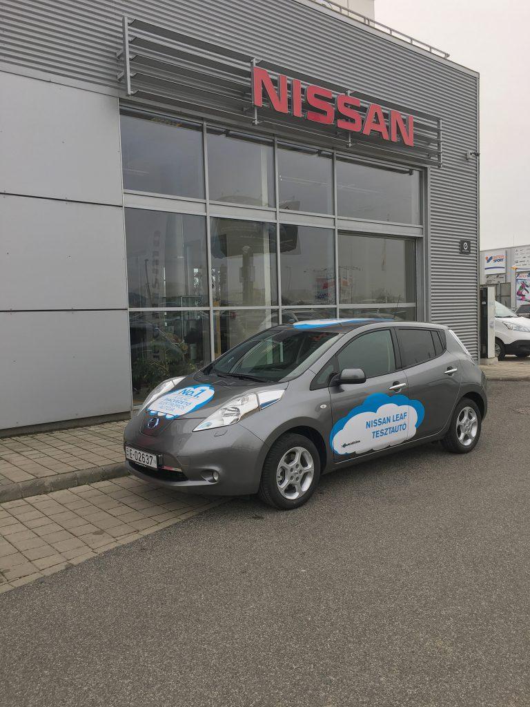 30 kWh-ás Nissan LEAF tesztautó