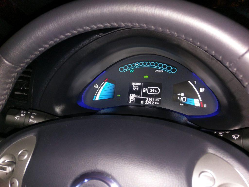30 kWh-ás LEAF a teszt végén