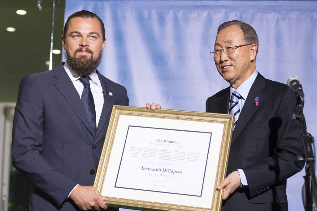 Leonardo DiCaprio ENSZ Békenagyköveti címet kap Ban Ki-moontól