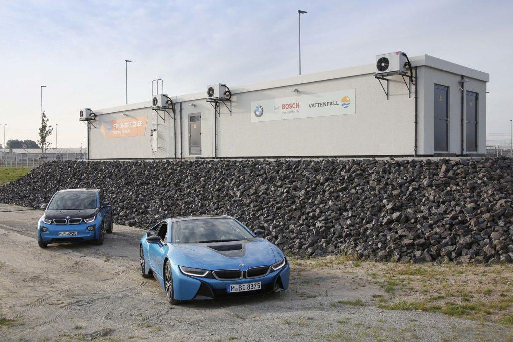 Használt BMW akkumulátorokból épített 2,8 MWh-ás energiatároló egység Hamburgban (forrás: Battery 2nd Life)
