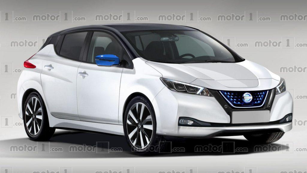 új Nissan LEAF (render) (forrás: motor1.com)