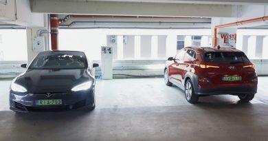 Hatótáv teszt: Hyundai Kona vs. Tesla Model S 75