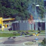 A hidrogéntöltő állomás a robbanás után