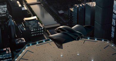 Ez nem egy Batman-pillanatkép, hanem a Porsche elektromos VTOL-ja