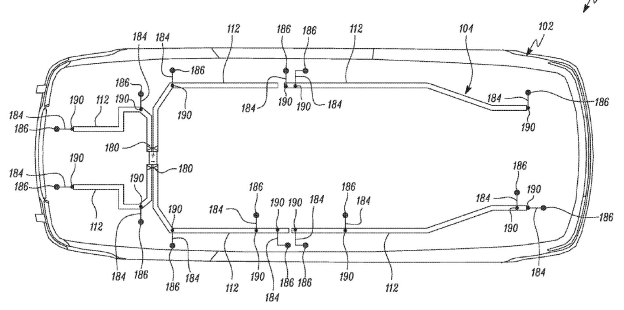 A Tesla új kábelrendszerének szabadalma. Forrás: Electrek