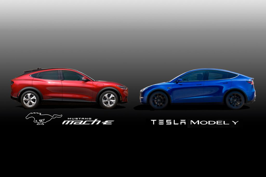 2017 Vs 2018 Mustang >> Ford Mustang Mach E vs. Tesla Model Y - Villanyautósok
