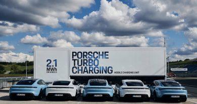 A Hungaroringen járt a Porsche villámtöltő-konténere